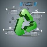 Recicle el negocio infographic Cuatro artículos libre illustration