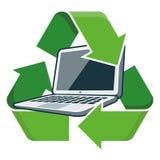 Recicle el ordenador portátil libre illustration