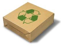 Recicle el rectángulo de papel marrón cercano Foto de archivo