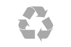 Recicle el símbolo con la trayectoria de recortes Fotos de archivo libres de regalías