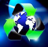 Recicle el símbolo del mundo ilustración del vector