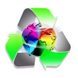 Recicle el símbolo del mundo libre illustration