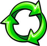 Recicle el símbolo gráfico de las flechas Imagen de archivo libre de regalías