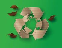Recicle el símbolo o la muestra de la protección Imagen de archivo