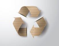 Recicle el símbolo o la muestra de la protección Fotografía de archivo libre de regalías