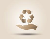 Recicle el símbolo o la muestra de la protección Foto de archivo libre de regalías