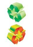 Recicle el vector - vector Imagenes de archivo