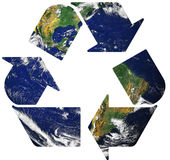 Recicle en la tierra Foto de archivo