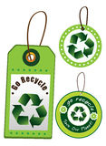 Recicle a etiqueta Imagens de Stock