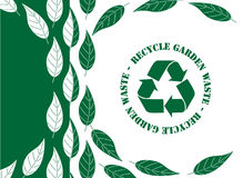 Recicle la basura del jardín Fotos de archivo libres de regalías