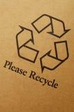 Recicle la escritura de la etiqueta Imágenes de archivo libres de regalías