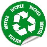Recicle la etiqueta engomada Foto de archivo libre de regalías