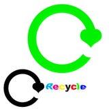 Recicle la insignia Imágenes de archivo libres de regalías