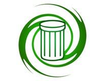 Recicle la insignia Imagen de archivo