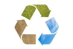 Recicle la insignia foto de archivo libre de regalías