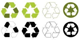 Recicle la insignia del ambiente Imagen de archivo libre de regalías
