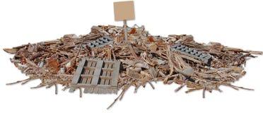 Recicle la madera foto de archivo