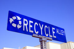 Recicle la muestra Imágenes de archivo libres de regalías