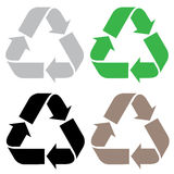 Recicle la muestra aislada en el fondo blanco Foto de archivo libre de regalías