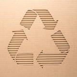 Recicle la muestra en una cartulina Fotografía de archivo