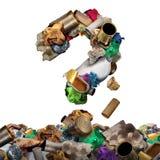 Recicle la pregunta de la basura ilustración del vector
