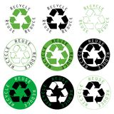 Recicle la reutilización reducen Fotografía de archivo libre de regalías