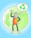 Recicle las baterías Imagen de archivo libre de regalías
