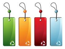 Recicle las etiquetas Imagen de archivo
