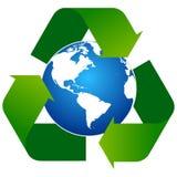 Recicle las flechas con el logotipo del globo ilustración del vector