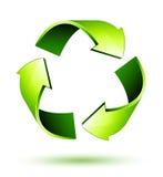 Recicle las flechas. Recicle el símbolo Fotos de archivo