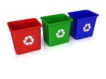 Recicle los compartimientos Fotografía de archivo libre de regalías