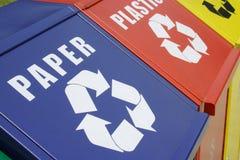 Recicle los compartimientos Imágenes de archivo libres de regalías