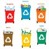 Recicle los compartimientos de basura Concepto de la separación libre illustration