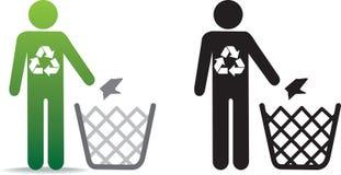 Recicle los desperdicios ilustración del vector
