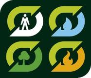 Recicle los elementos (el vector) Foto de archivo libre de regalías
