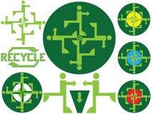 Recicle los iconos Fotos de archivo