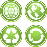 Recicle los iconos Foto de archivo
