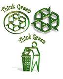 Recicle los iconos del símbolo 3 Fotos de archivo