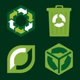 Recicle los iconos (el vector) Fotografía de archivo libre de regalías