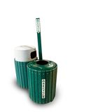 Recicle los recipientes para residuos Imágenes de archivo libres de regalías