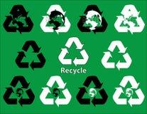 Recicle los símbolos Fotografía de archivo libre de regalías