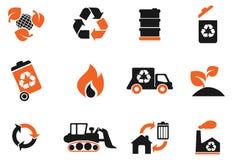 Recicle los símbolos Foto de archivo libre de regalías