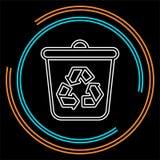 Recicle o ícone, reciclando a lata de lixo, símbolo da ecologia ilustração royalty free