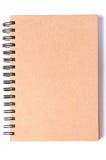 Recicle o caderno no branco Foto de Stock