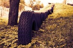 Recicle o campo de jogos do pneu Foto de Stock Royalty Free