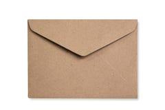 Recicle o isolado do envelope está no fundo branco Imagem de Stock