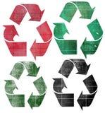 Recicle o papel ilustração do vetor