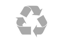Recicle o símbolo com trajeto de grampeamento Fotos de Stock Royalty Free