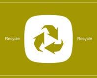 Recicle o símbolo ou o sinal do ícone da conservação Fotos de Stock