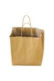 Recicle o saco de papel da compra no fundo branco Imagens de Stock Royalty Free
